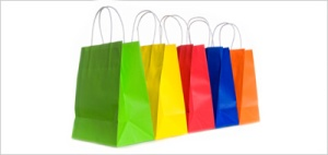 Multicolored shopping bags
