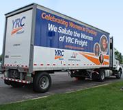 Women in Trucking trailer wrap