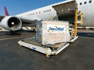 YRC freight loading onto an airplane.
